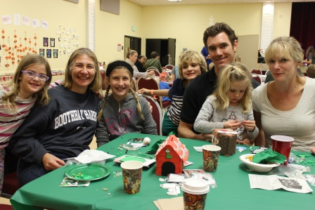 Family enjoying Crafts Night