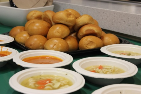 Soup and rolls available through Crafts Night