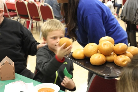 Participants enjoying rolls during the event