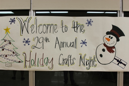 2015 Crafts Night sign