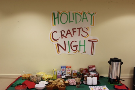 Snacks available during Crafts Night