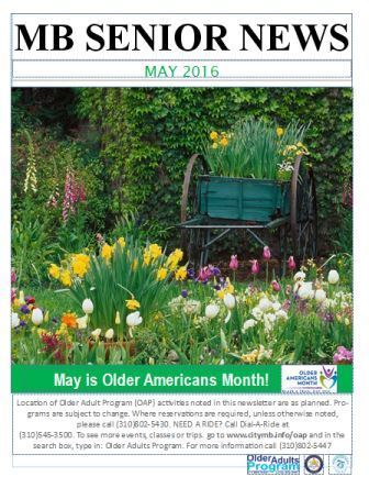 Older Adults Program May Newsletter 2016