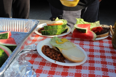 Hamburgers, beans, watermelon, and more!