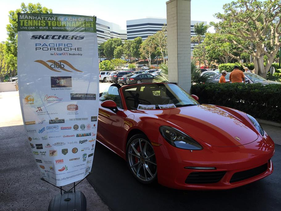 Porsche display at the Manhattan Country Club by Platinum Sponsor LAcarGuy