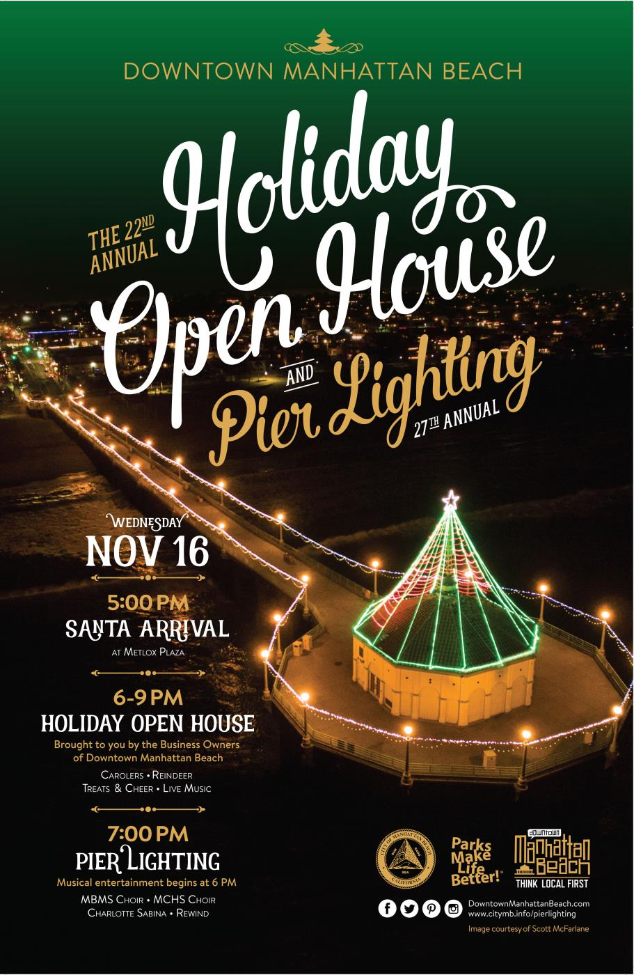 Pier Lighting & Holiday Open House Poster