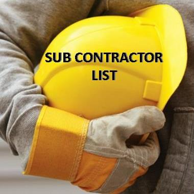 SUB CONTRACTOR LIST