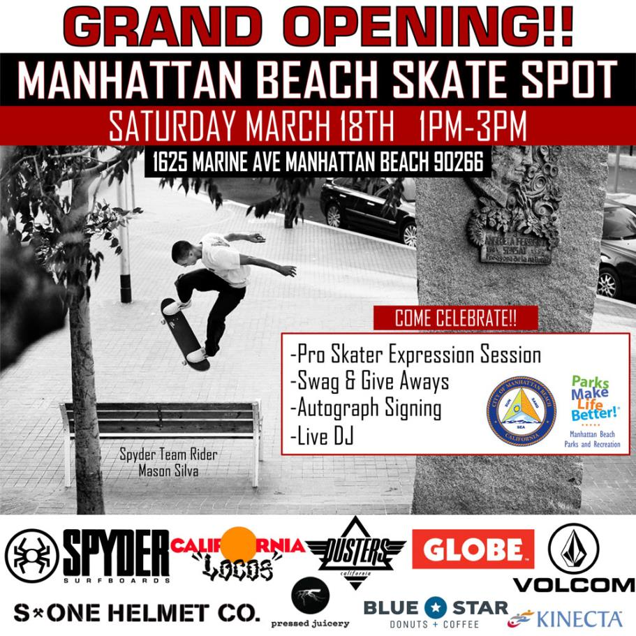 Manhattan Beach Skate Spot Grand Opening Square