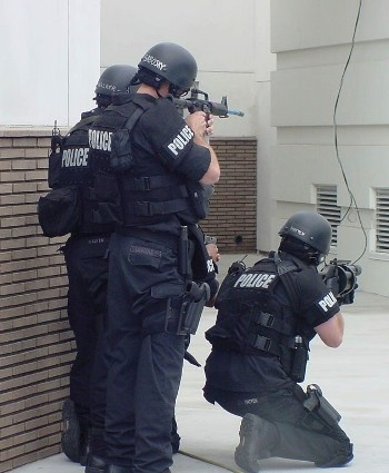 SWAT Team gears up for a demonstration
