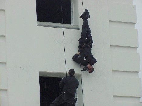 SWAT Team repels during their demonstration