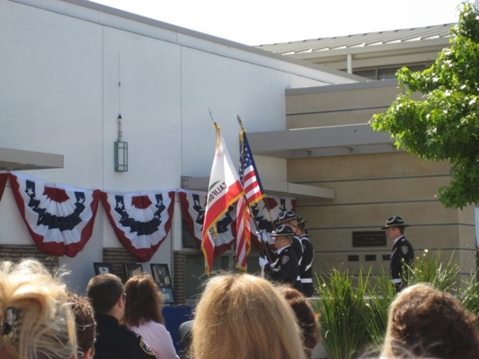 Honor Guard Presents the Colors for the Memorial Ceremony
