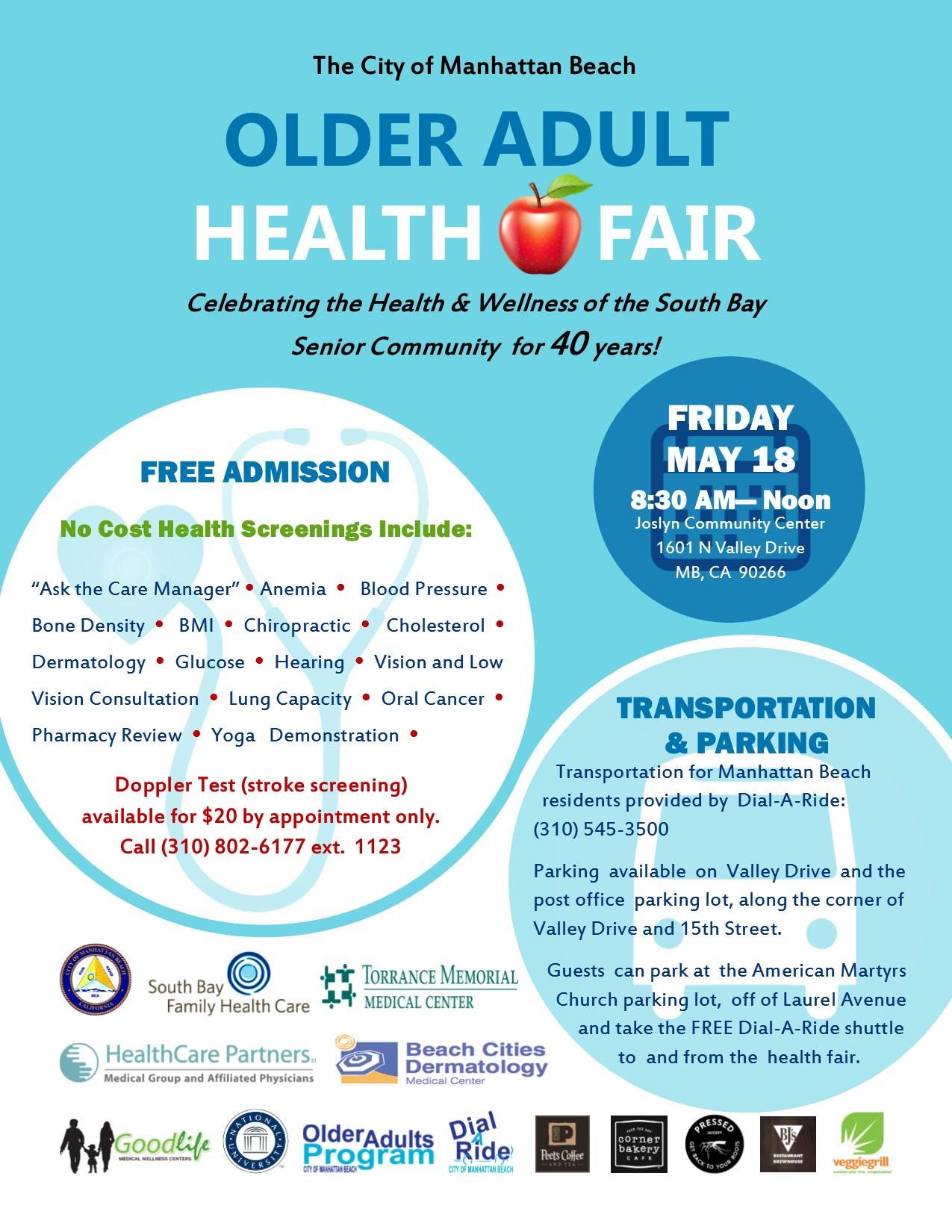 Older Adults Health Fair Flyer 2018