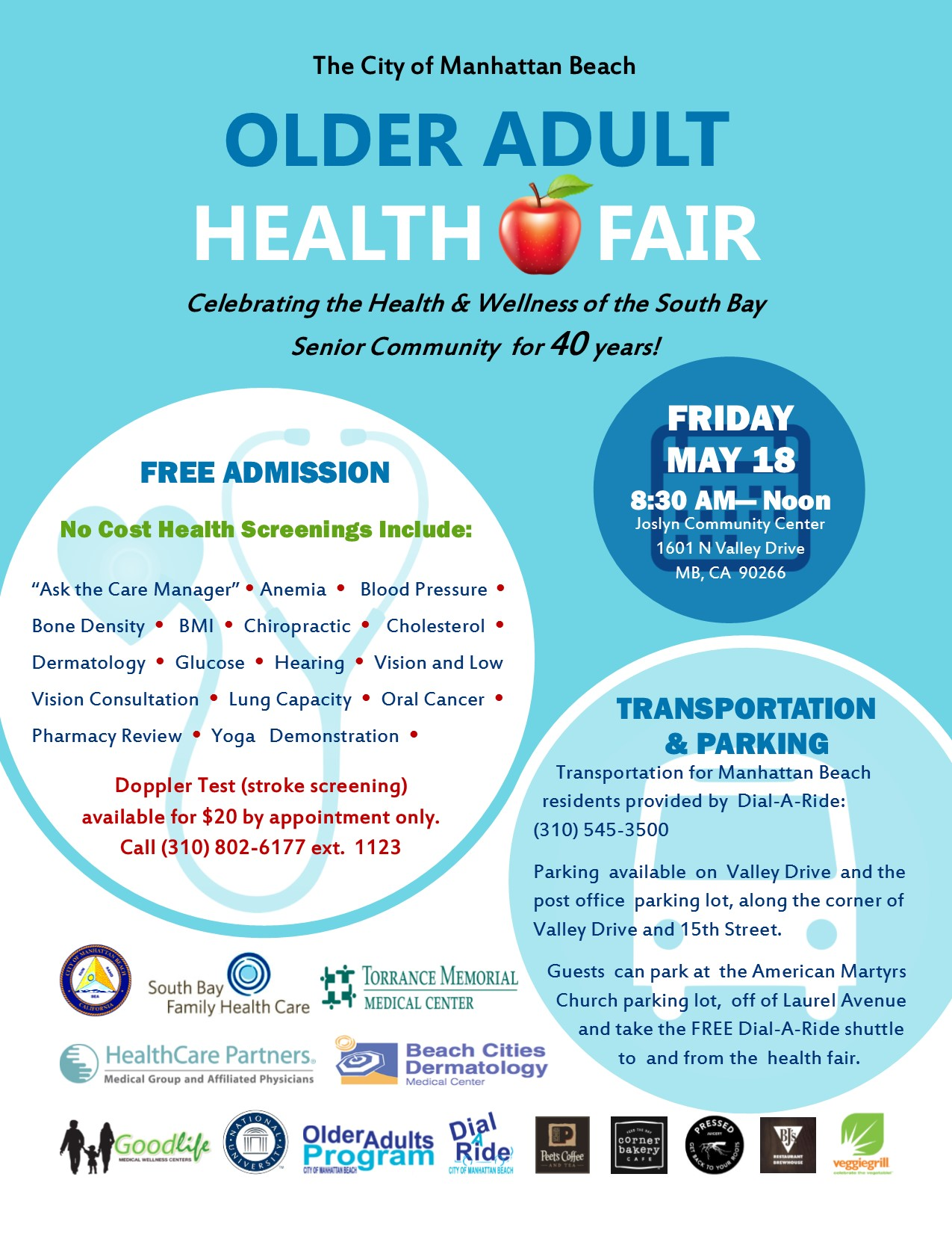Older Adults Health Fair Flyer 2018