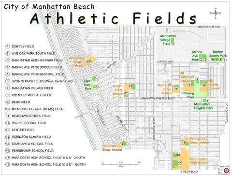 Athletic Fields Map