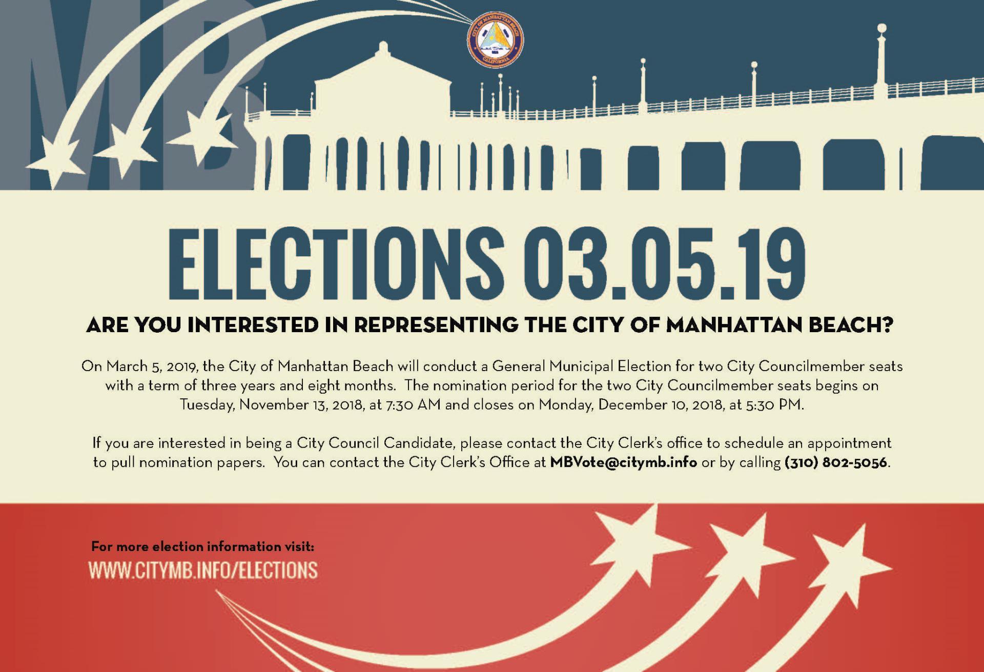 2019 General Municipal Election City Of Manhattan Beach