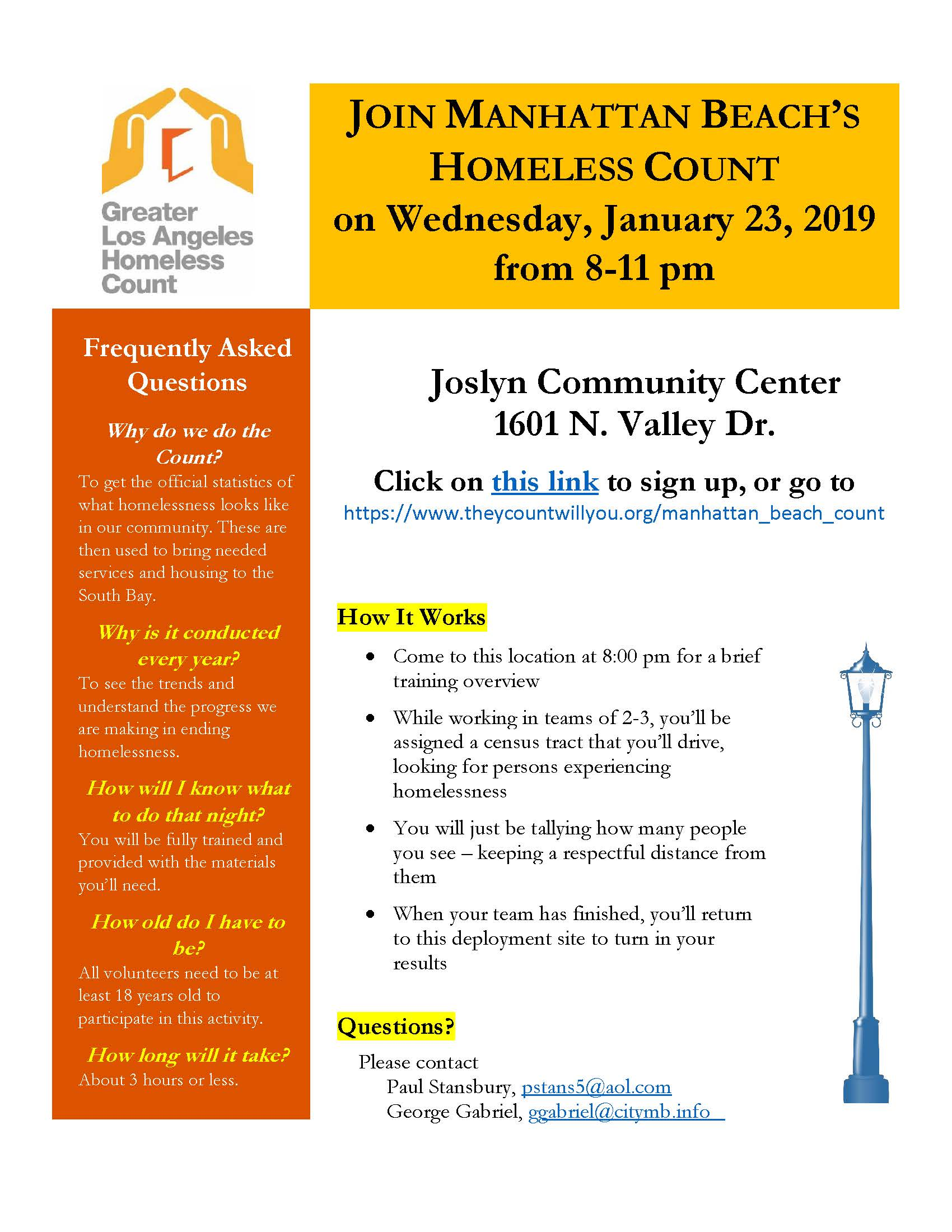Homelessness Count Flyer