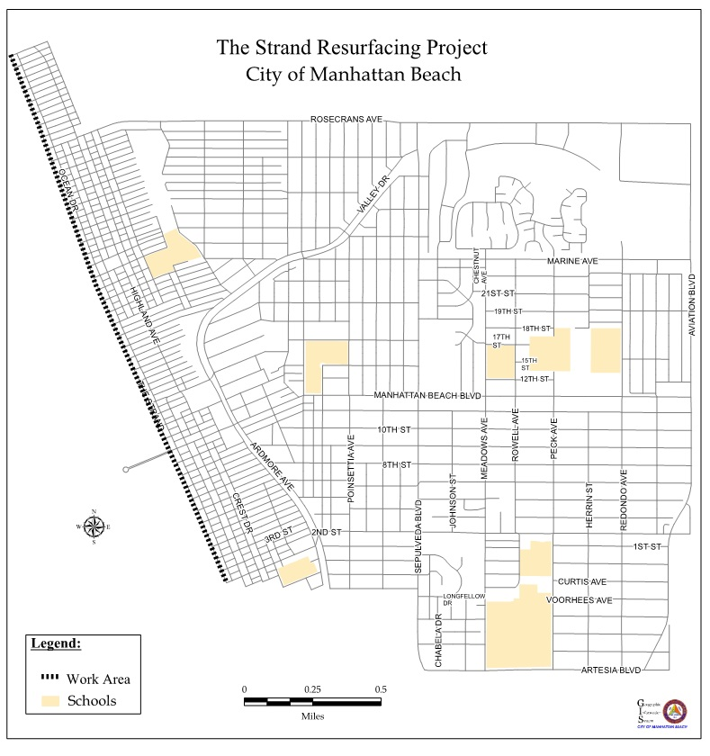 Strand Resurfacing Project Map
