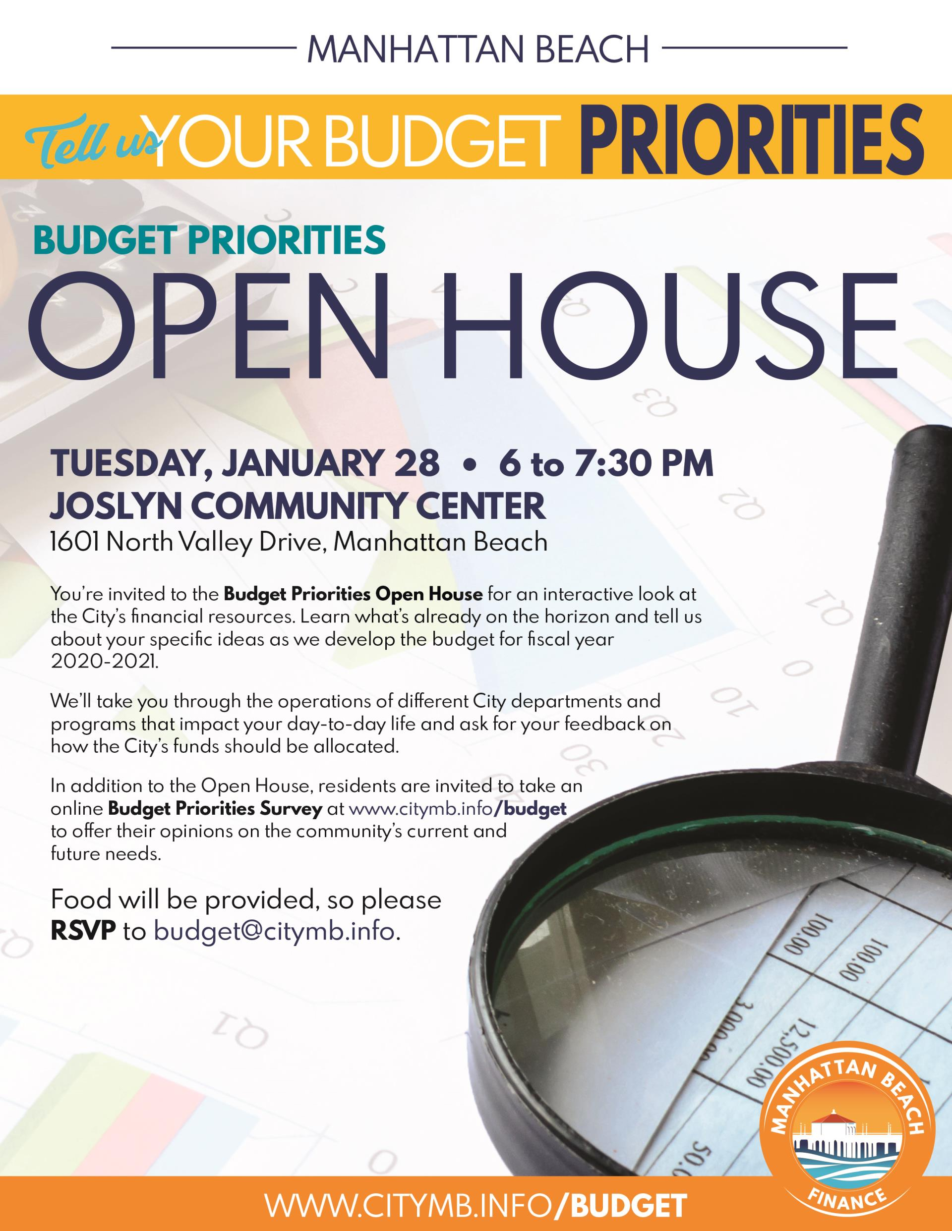 Budget Priorities Open House Flyer