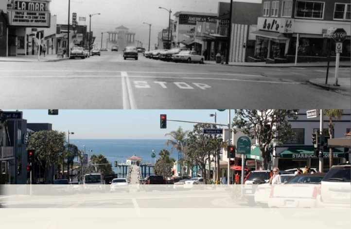 Then and Now Manhattan Beach Boulevard