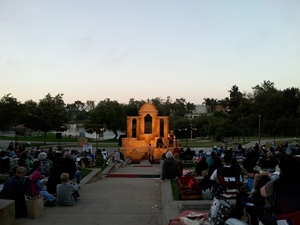Shakespeare By The Sea in Polliwog Park at Sunset