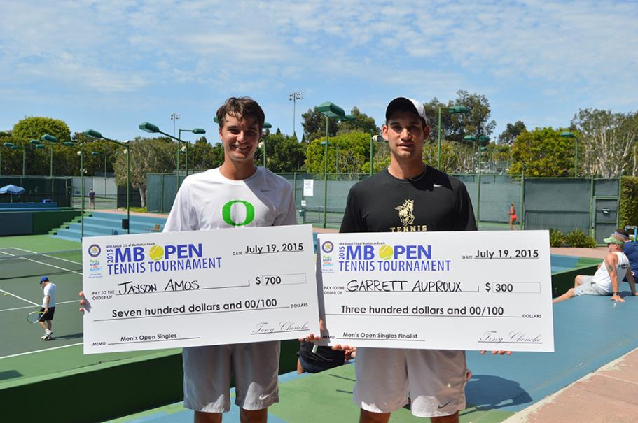 Men's Open Singles winner, Jayson Amos and finalist, Garrett Auproux