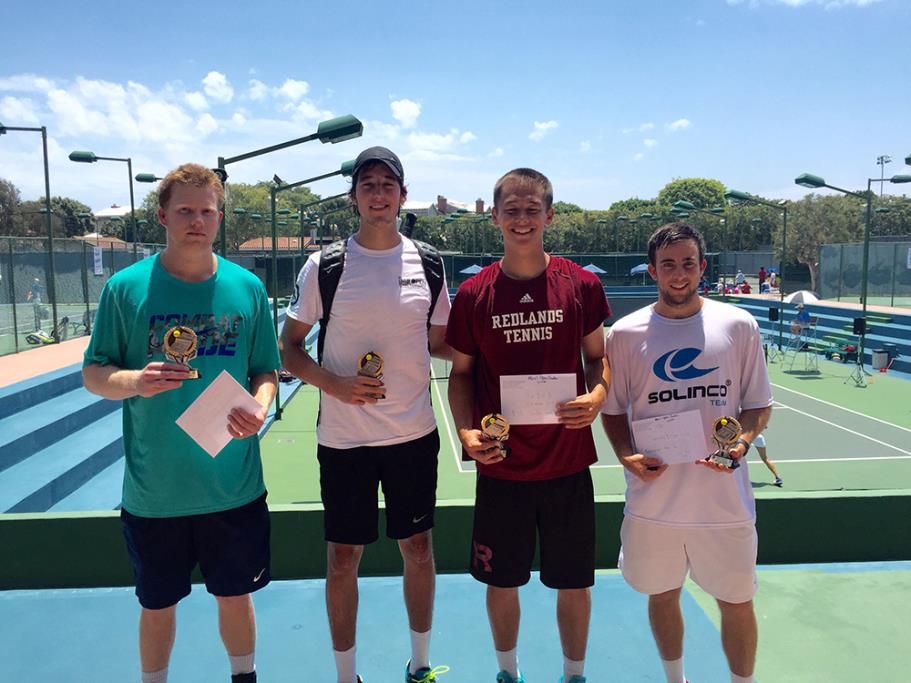 Manhattan Beach Open Tennis Tournament Men's Open Doubles winners, Sumen/partner and runner-ups Dalton/Belmar.