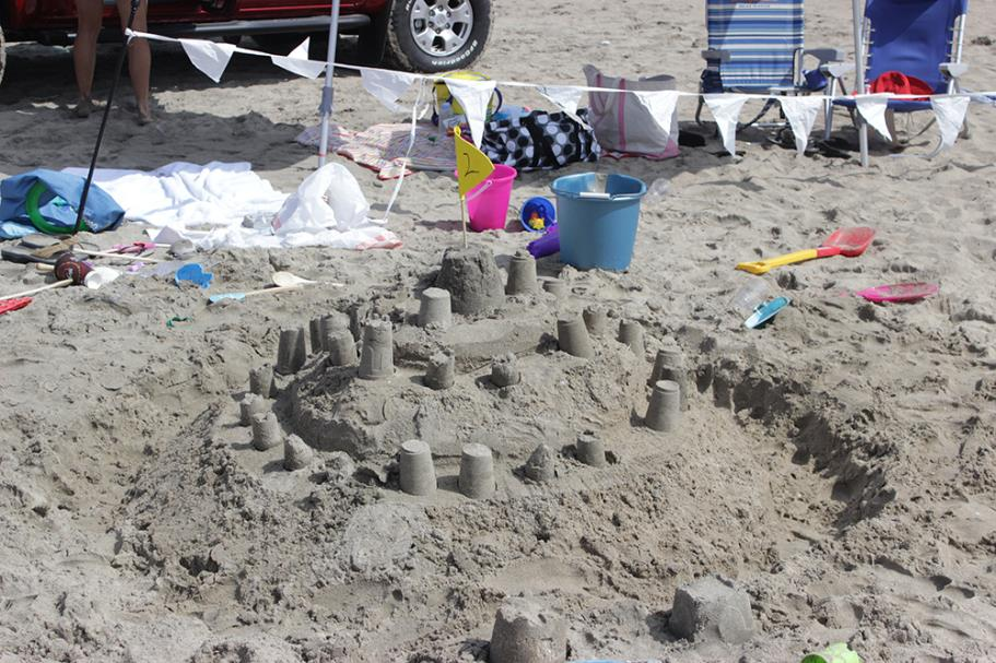 Sand Castle in progress