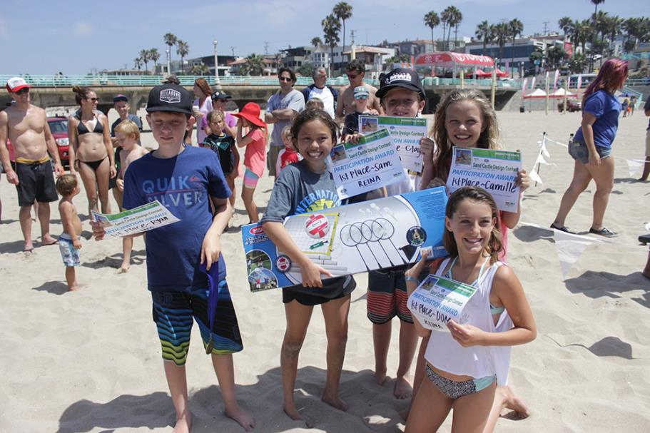 Group of Sand Castle Design Contest winners