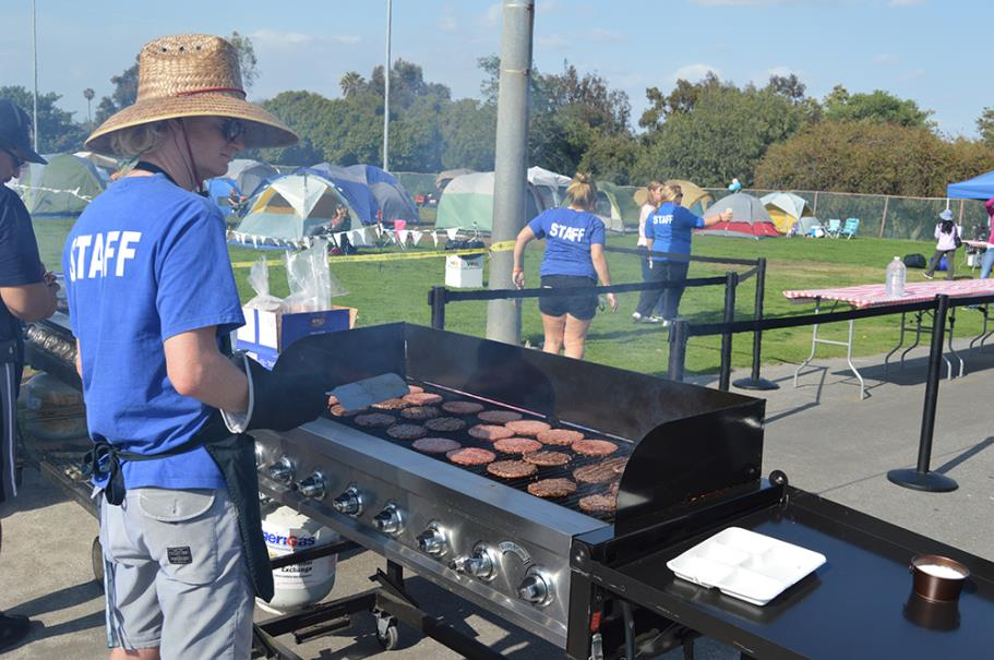 Staff grilling for the campers