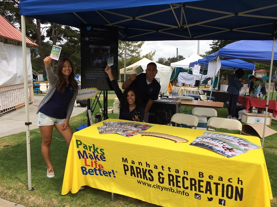 Parks and Recreation Booth at Earth Day