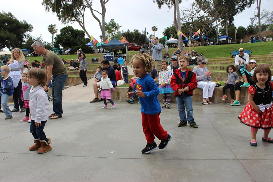 Kids Dancing at Earth Day