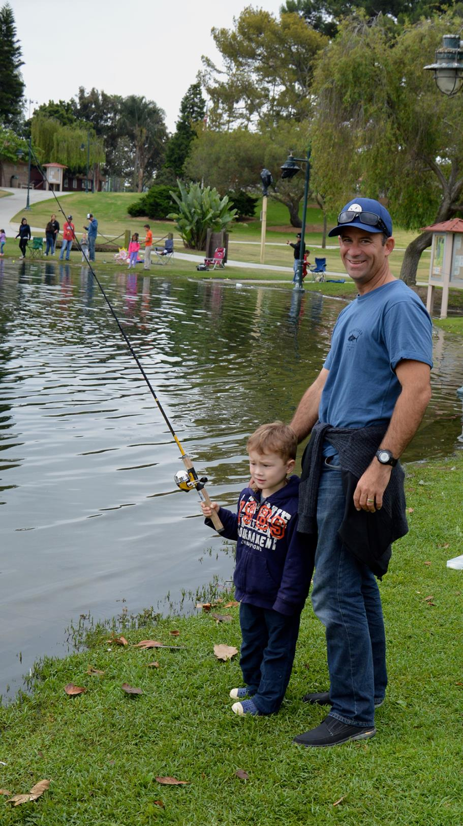 Participants in the 2015 Fishing Derby