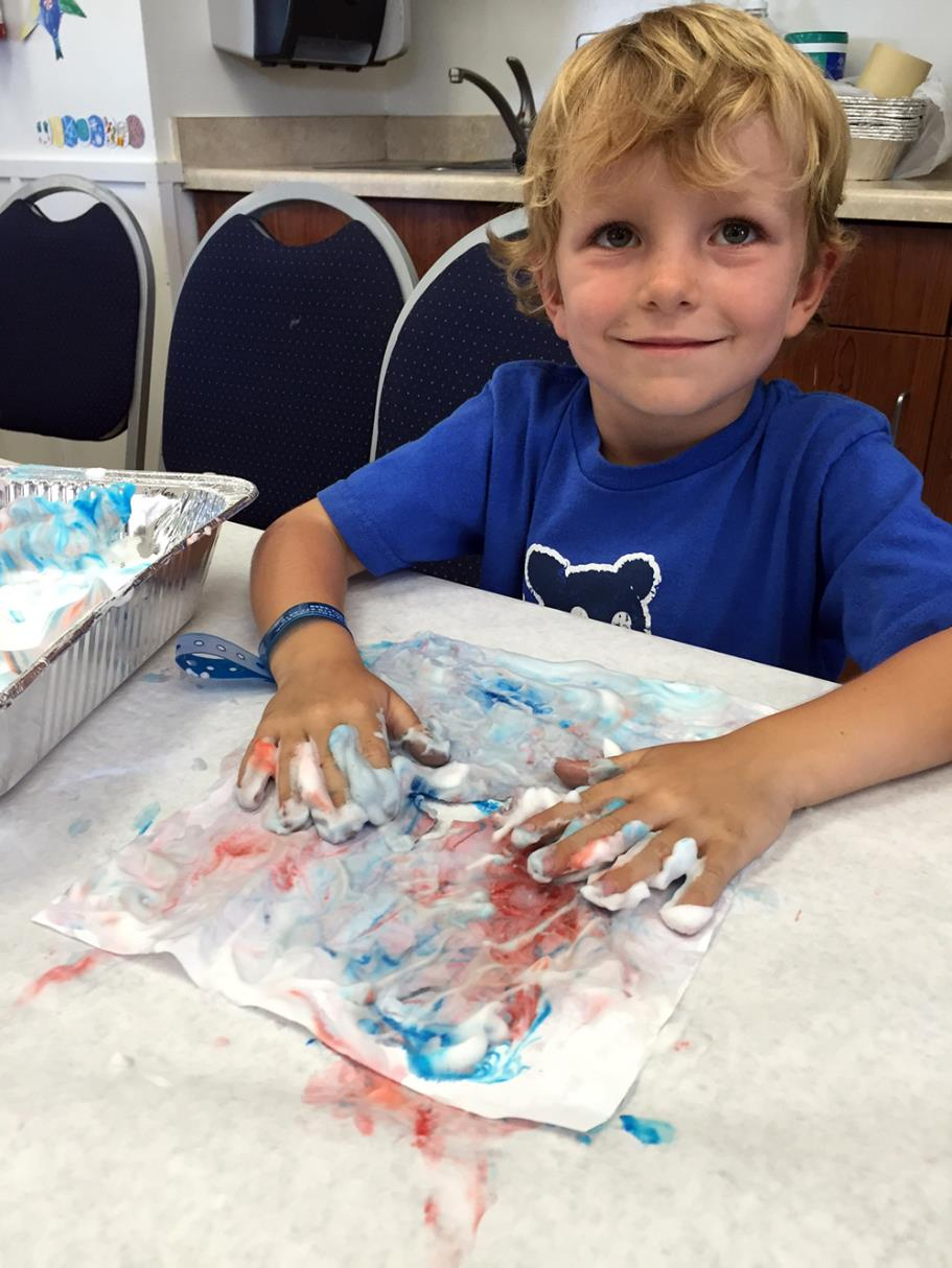 Shaving Cream Tie-Dye