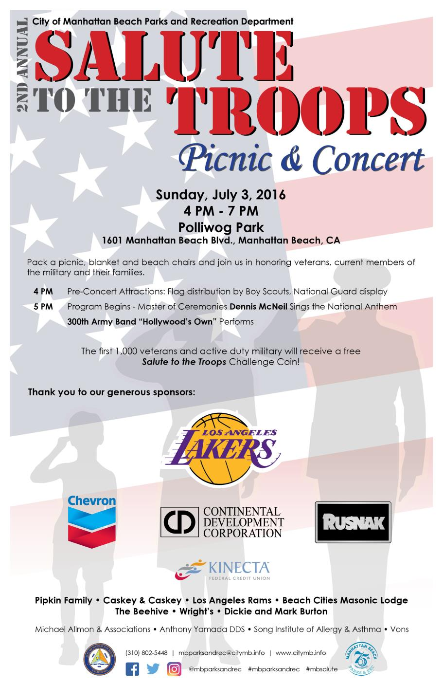 POSTER - Salute to the Troops Picnic and Concert