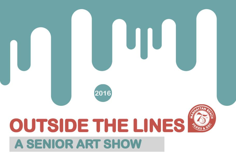 Outside the Lines - A Senior Art Show Postcard Front