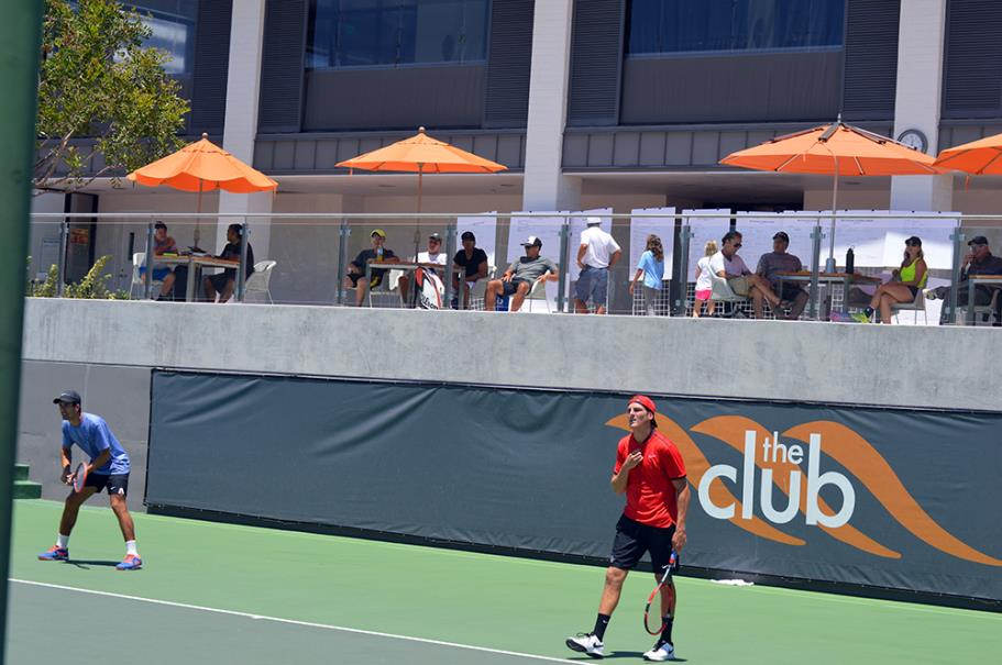 Doubles match during the finals at the Manhattan Country Club