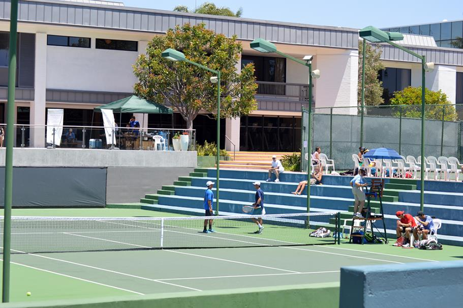 Doubles match at the Manhattan Country Club