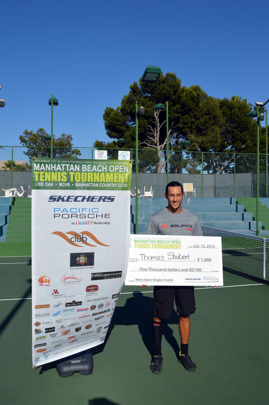 Thomas Shubert Men's Open Singles Finalist