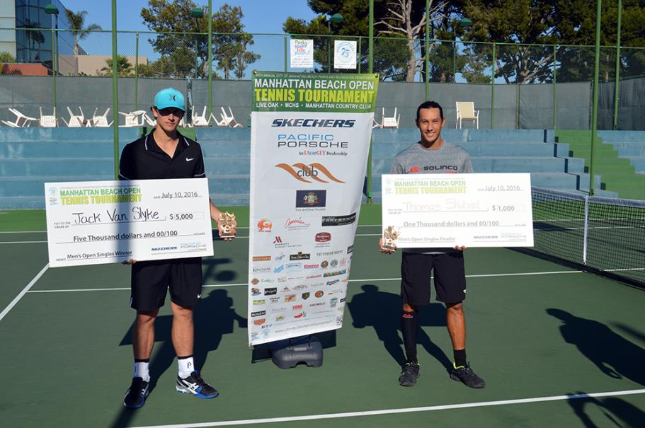 Jack Van Slyke Men's Open Singles Winner and Thomas Shubert Men's Open Singles Finalist