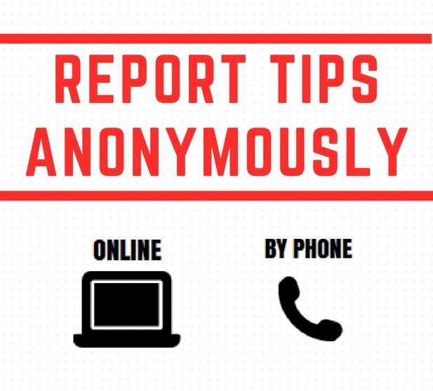 Report tips anonymously online or by phone
