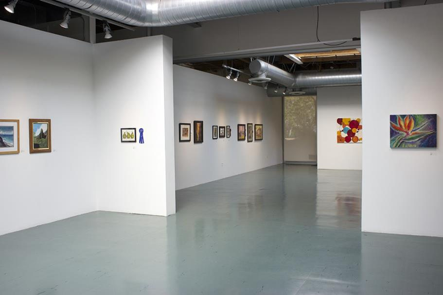 Gallery with artwork