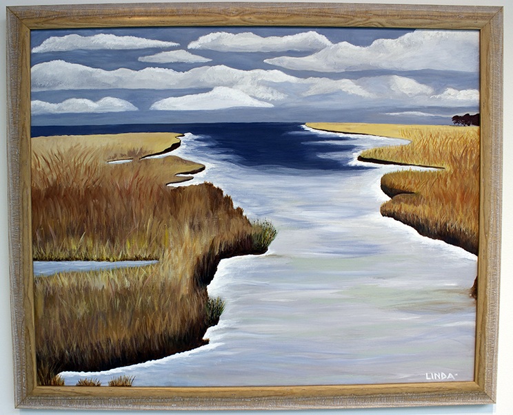 The Delta, Painting, Acrylic by Linda Harmon Butts