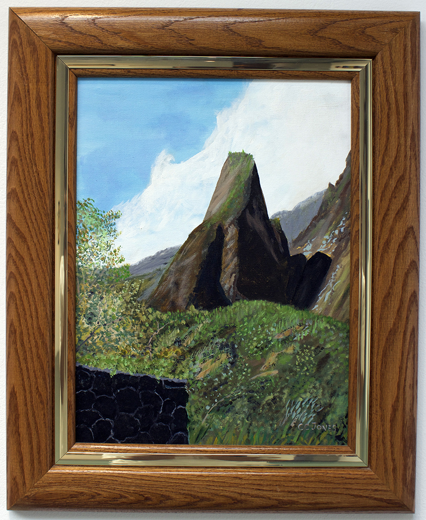 Iao Needle- Maui, Painting, Acrylic by Carol C. Jones
