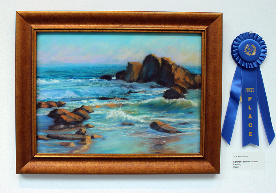 Central California Coast, Painting, Pastel by Sue Ann Sinay