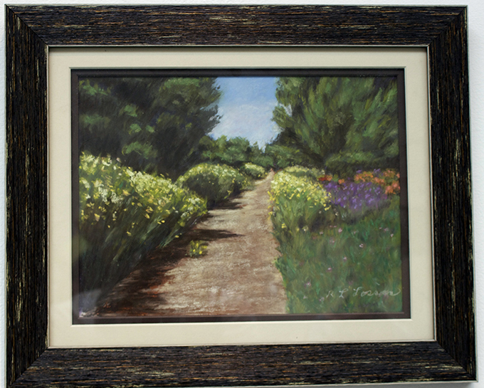The Green Belt Hermosa Beach, Painting, Pastel by R. Louse