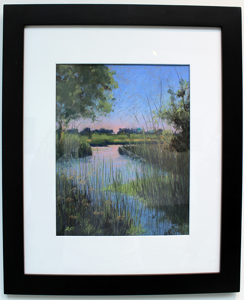 Madrona Marsh, Painting, Pastel by Arturo Fribourg
