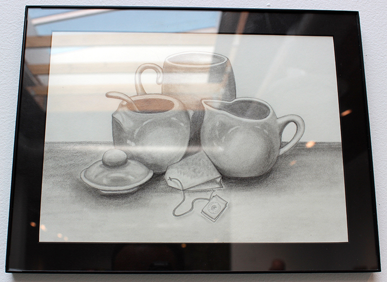 Tea For One, Drawing, Graphite by Marie Anderson