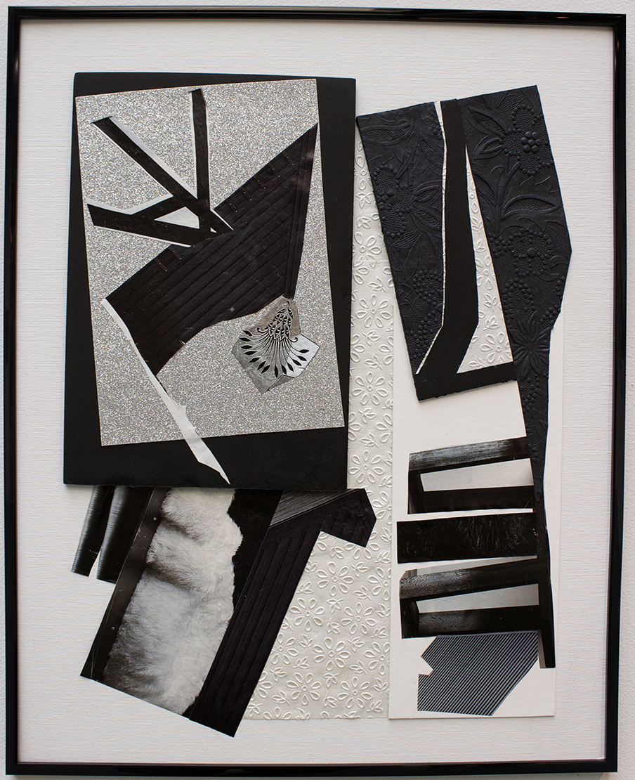 A Vision in Black and White, Mixed Media, Collage by Andrew Hughes