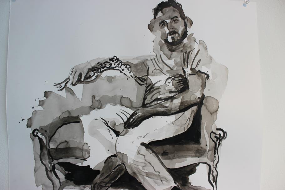 India ink washes by Yaron Dotan