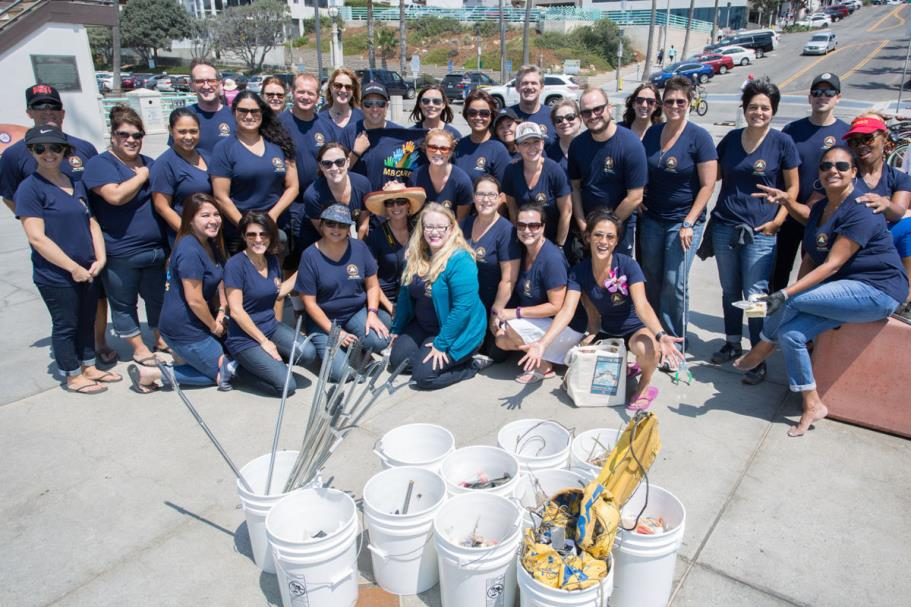 Beach Cleanup Group Photo