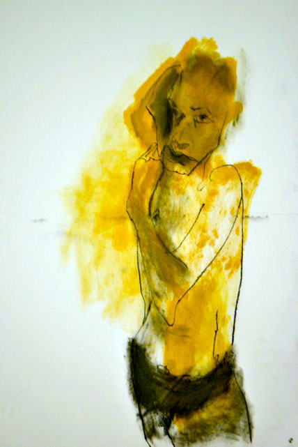 Artist: Diega; Charcoal and Gouache; 30x40